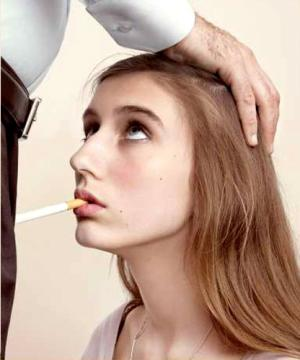 A poster from an anti-smoking campaign by Les Droits
