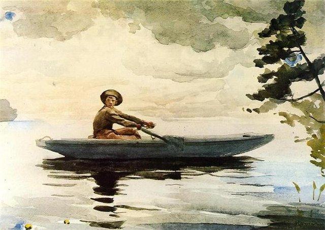 мальчик строил лодку стих